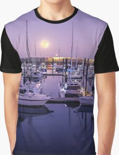 Mackay Harbour Moonrise Graphic T-Shirt