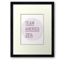 Team America for the World Cup 2014 Framed Print