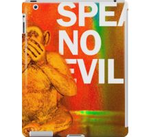 Speak No Evil iPad Case/Skin