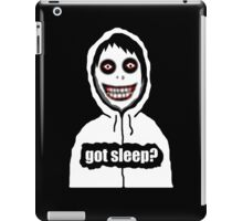 Jeff The Killer Got Sleep? iPad Case/Skin