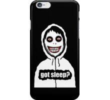 Jeff The Killer Got Sleep? iPhone Case/Skin