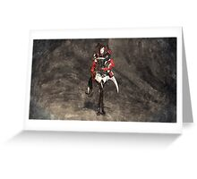 Armored woman Greeting Card