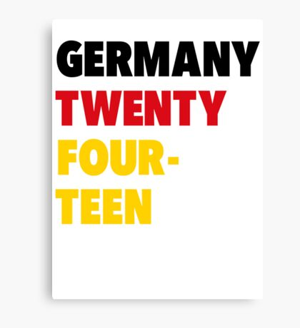 Team Germany for the World Cup 2014 Canvas Print