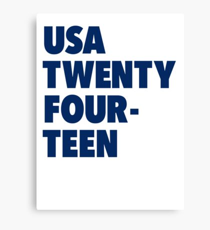 Team America for the World Cup 2014 Canvas Print