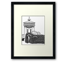 Colchester Jumbo Watertower Sketch Framed Print