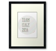Team Italy for the World Cup 2014 Framed Print