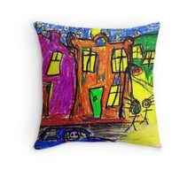 We live in the City Throw Pillow