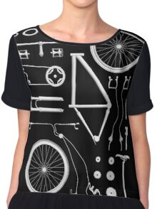 Bike Exploded Chiffon Top