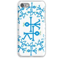 Blue Birds with Olive Branch Circle Icon iPhone Case/Skin