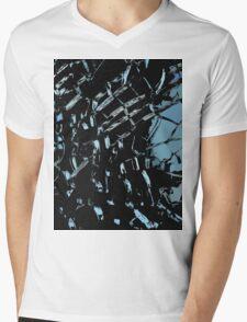 Ice cracks Mens V-Neck T-Shirt