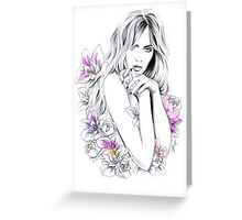 In flowers Greeting Card