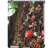 Fly agaric toadstool in beech woodland iPad Case/Skin