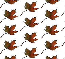 Maple Leaf in Autumn, Hand Drawn, Color Pencil Art by Joyce Geleynse