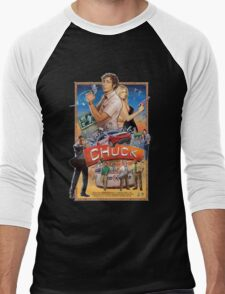 Funny Chuck TV Poster Men's Baseball ¾ T-Shirt