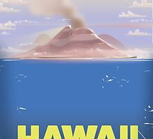 Hawaii for a Vacation!  vintage travel poster, by Nick  Greenaway