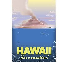 Hawaii for a Vacation!  vintage travel poster, Photographic Print