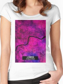London city map Women's Fitted Scoop T-Shirt