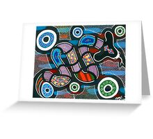 Rainbow Serpent Travelling Greeting Card