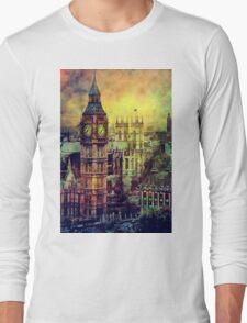 London BigBen Watercolor Long Sleeve T-Shirt