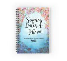 Seamos Leales A Jehová! 2016 Asamblea de los testigos de Jehová (Floral Blue) Spiral Notebook