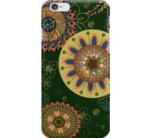 Zentangle style with flowers. iPhone Case/Skin
