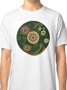 Zentangle style with flowers. Classic T-Shirt