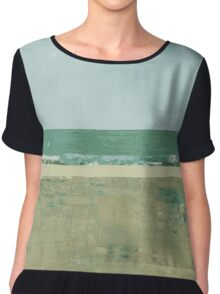 #5 Lines and colors minimalist abstract art print Chiffon Top