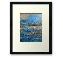 abstract landscape fine art painting coastal themed decor PACIFIC COAST Framed Print