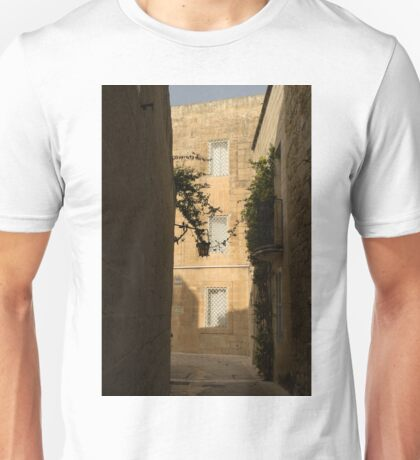 The Sunny Side of the Street - Mdina, the Ancient Capital of Malta Unisex T-Shirt