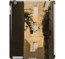 The Sunny Side of the Street - Mdina, the Ancient Capital of Malta iPad Case/Skin