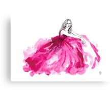 Pink gown Canvas Print