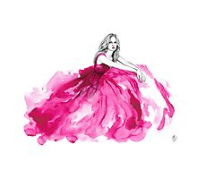 Pink gown Photographic Print