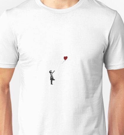 Girl with Heart Balloon Banksy Unisex T-Shirt
