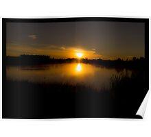 Double Sunrise, Highlands Lake Poster