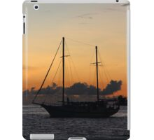 Indian Ocean sunset with yacht iPad Case/Skin