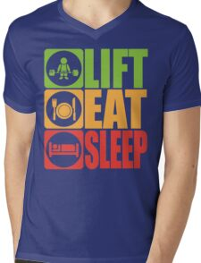 LIFT, EAT, SLEEP Mens V-Neck T-Shirt