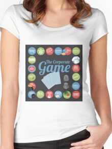 Corporate Game with humorous milestones. Women's Fitted Scoop T-Shirt