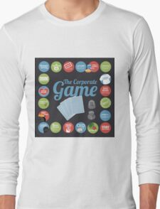 Corporate Game with humorous milestones. Long Sleeve T-Shirt