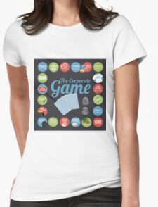 Corporate Game with humorous milestones. Womens Fitted T-Shirt