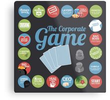 Corporate Game with humorous milestones. Metal Print