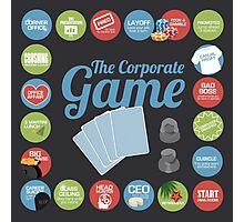 Corporate Game with humorous milestones. Photographic Print