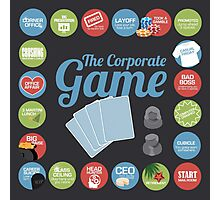 Corporate Game with humorous milestones. Photographic Print