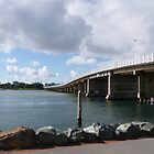 Forster/Tuncurry Bridge across Lake Wallis Inlet. Nth. N.S.W. Coast. by Rita Blom