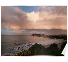 Eerie Rain Cloud at Sunset! Forster, Nth. N.S.W. Coast. Poster
