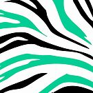 Green Black Zebra Stripe Pattern Design Pillow by red addiction