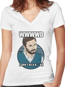 WWWWD - What Would Wil Wheaton Do? (Safe) Women's Fitted V-Neck T-Shirt