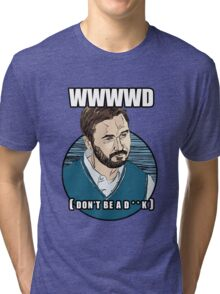 WWWWD - What Would Wil Wheaton Do? (Safe) Tri-blend T-Shirt