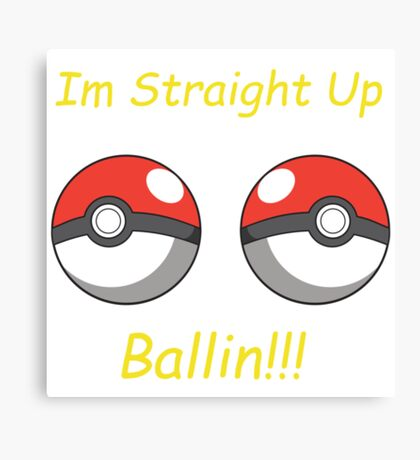 Pokemon Ballin Canvas Print