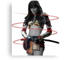 Xena the Samurai Princess Canvas Print