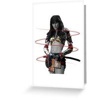 Xena the Samurai Princess Greeting Card